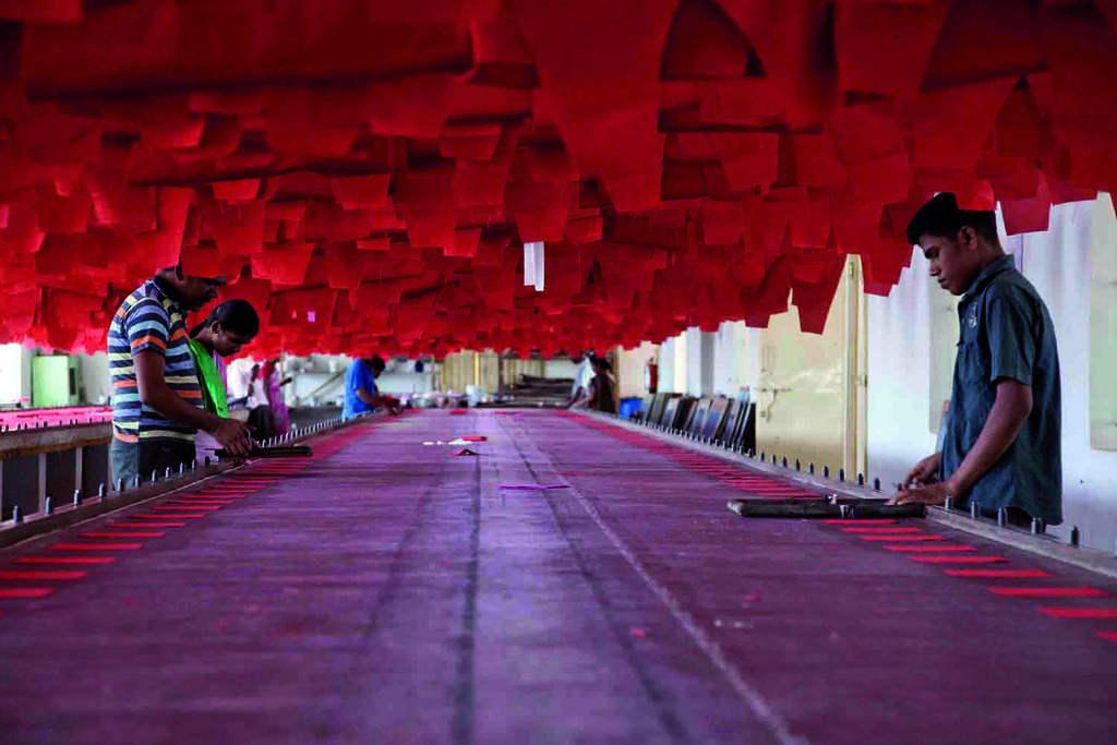 Arbeiter Textilfabrik Indien